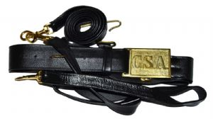 Confederate Leather Sword Belt With Square Buckle